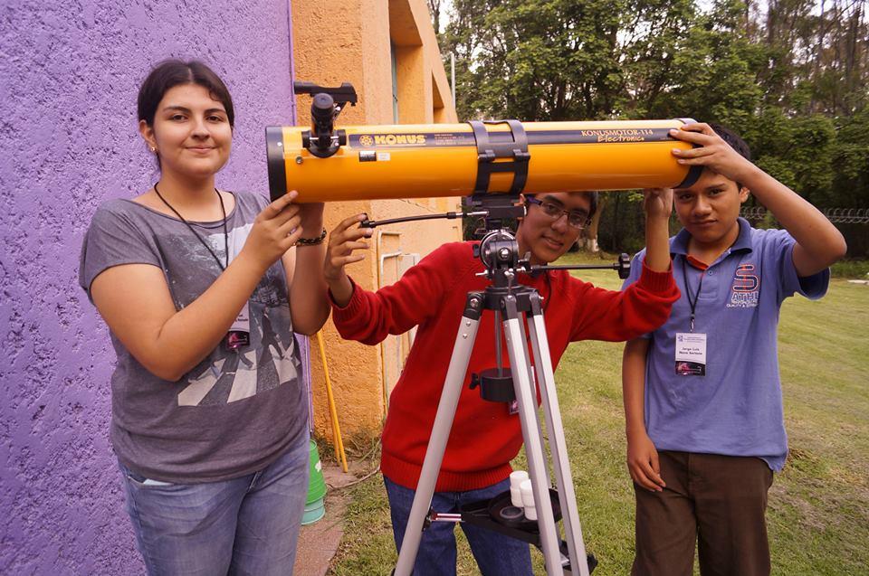 Págia principal de telescopios