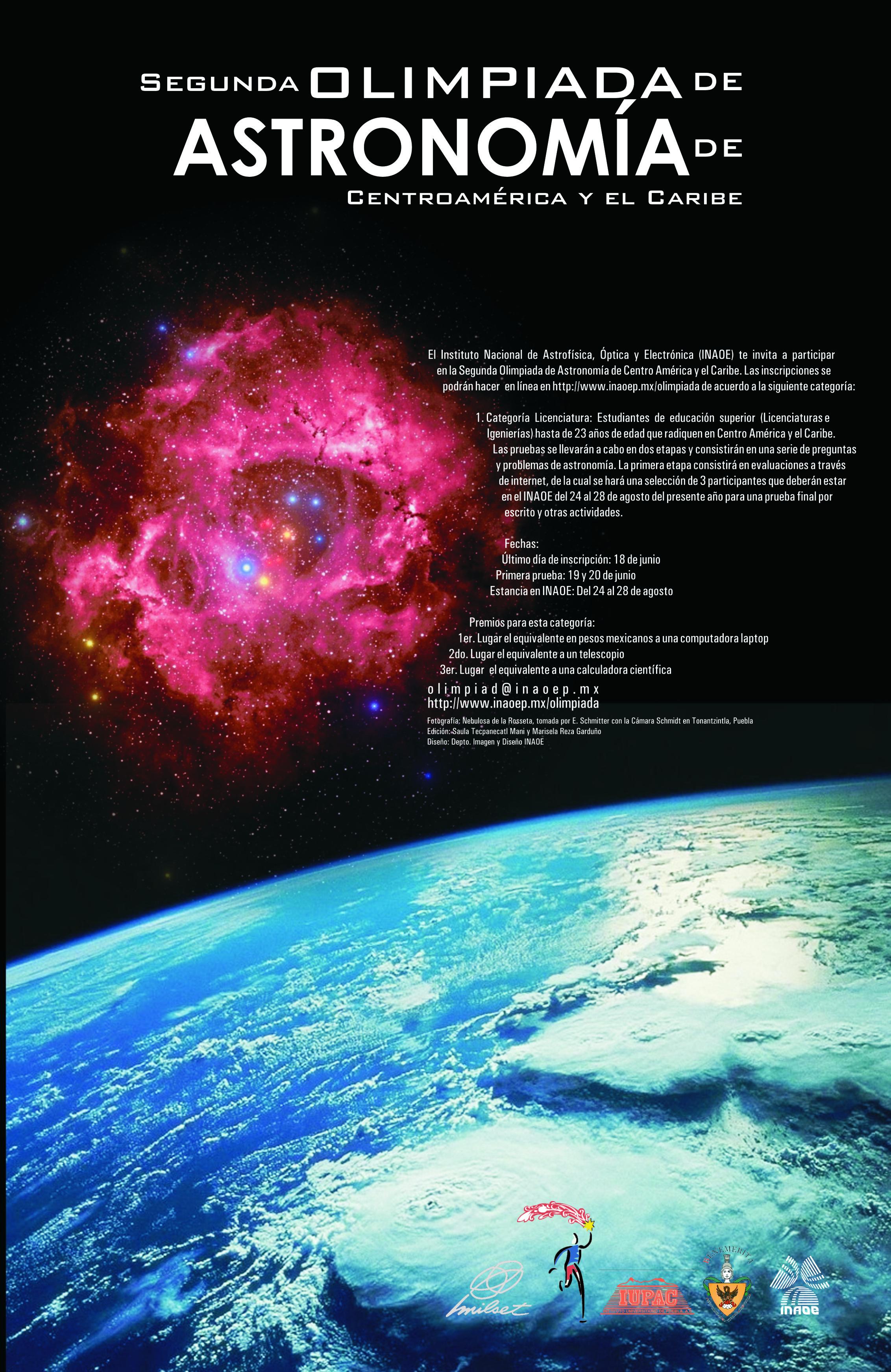 Segunda olimpiada de Astronomía Centroamérica